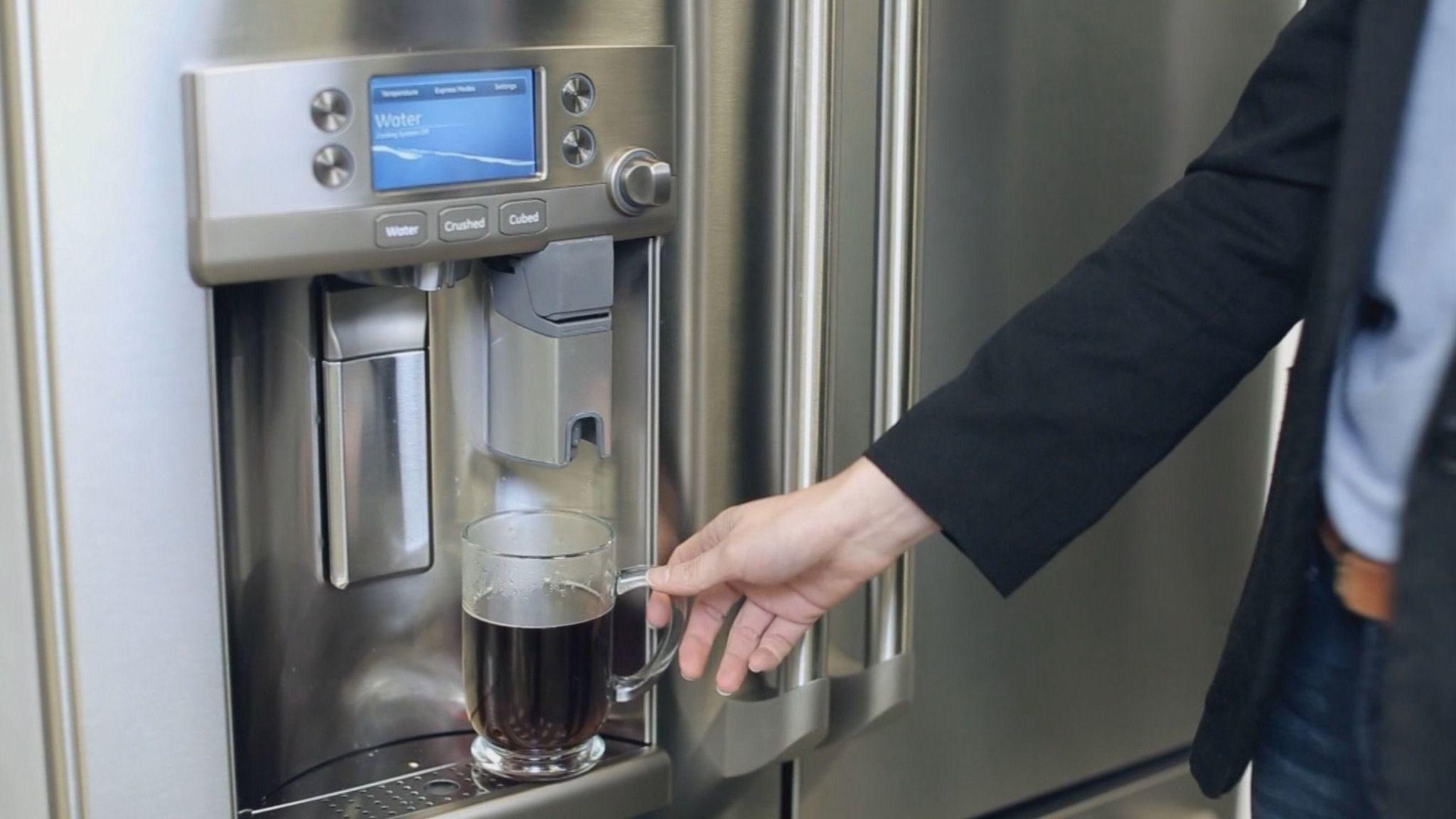 Ge Unveils Refrigerator With Keurig K Cup Coffee Brewer