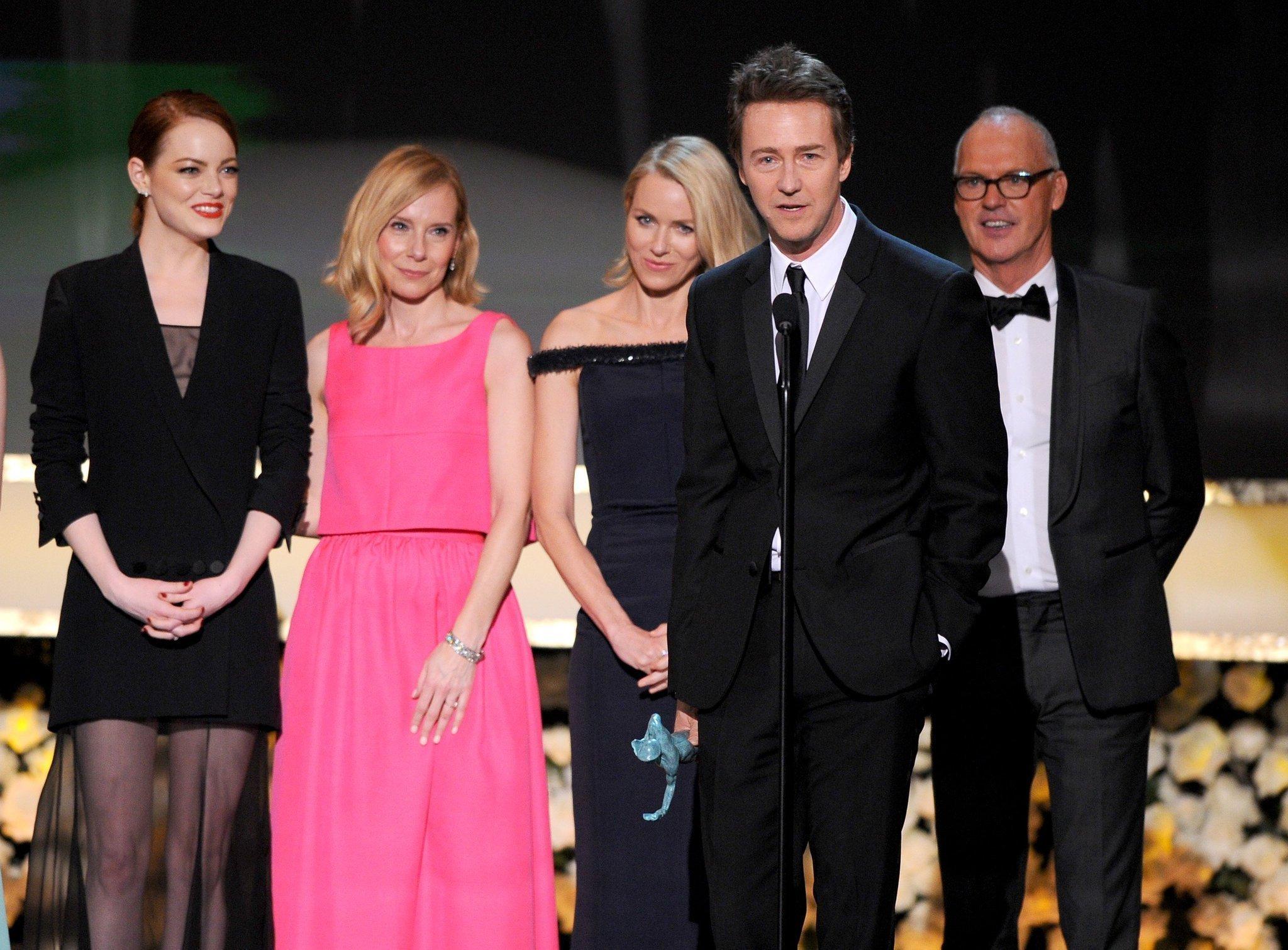 """Birdman,"" winning the Screen Actors Guild Award for cast ... |Motion Actors Guild"