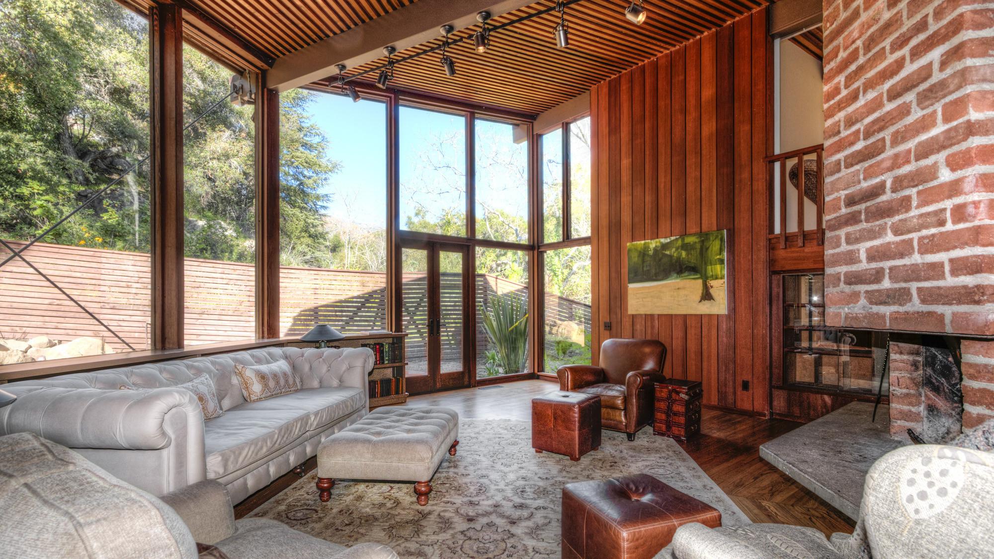 Santa Barbara Mission Floor Plan Home Of The Day Post And Beam Treehouse In Santa Barbara