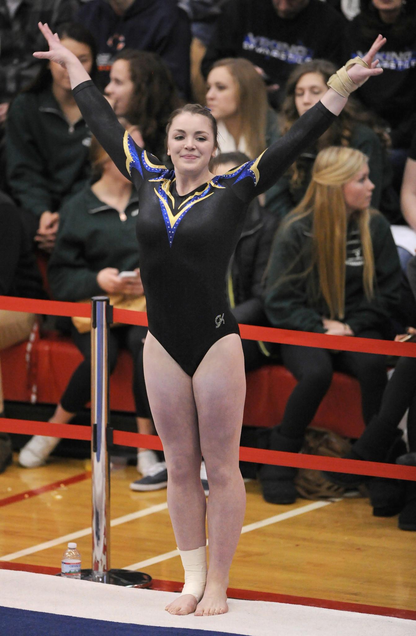 State Gymnastics Notes No Repeat For Geneva S Claire