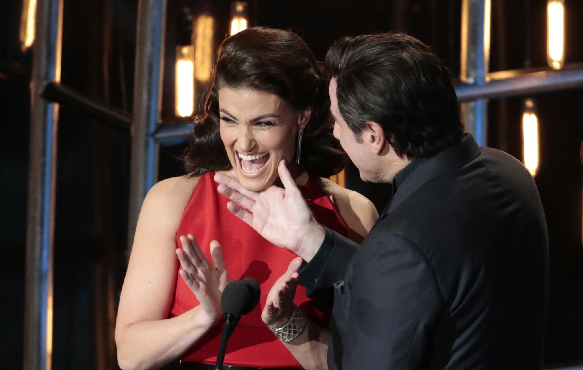 Turns out John Travolta's Oscars face-touching of Idina ...