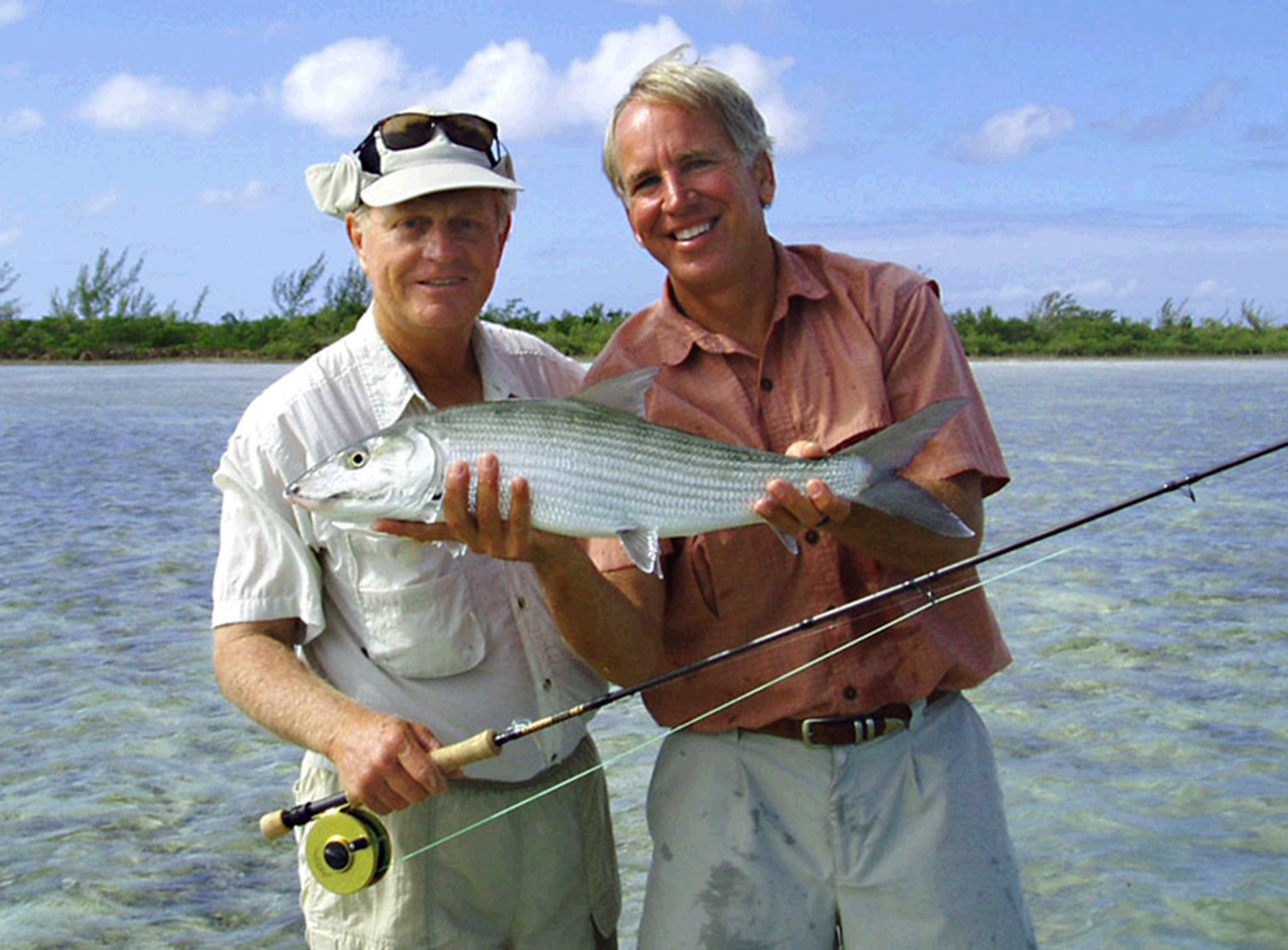Golfing great Jack Nicklaus loves to fly fish for bonefish when he's