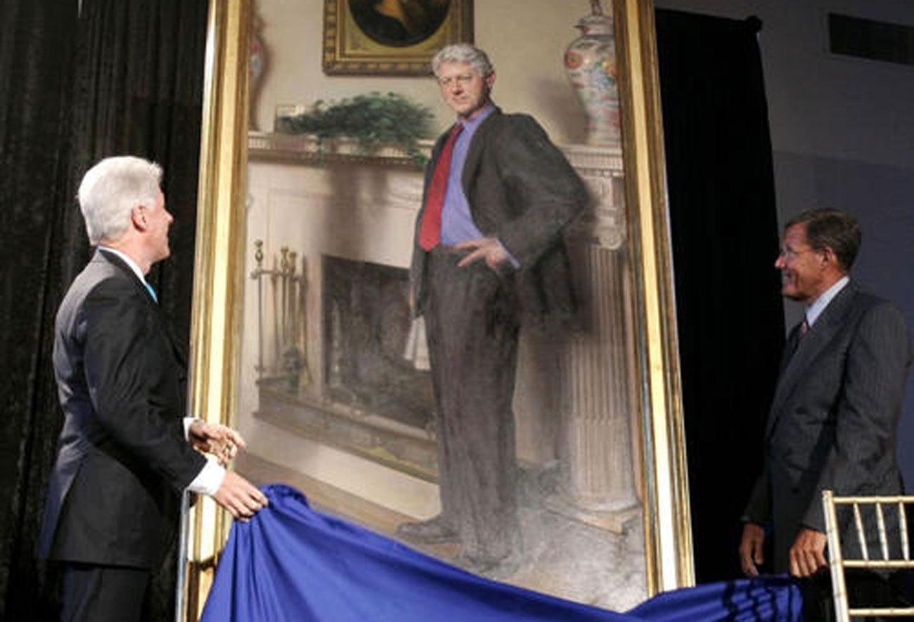 Artist Clinton Museum Portrait Has Nod To Lewinsky S