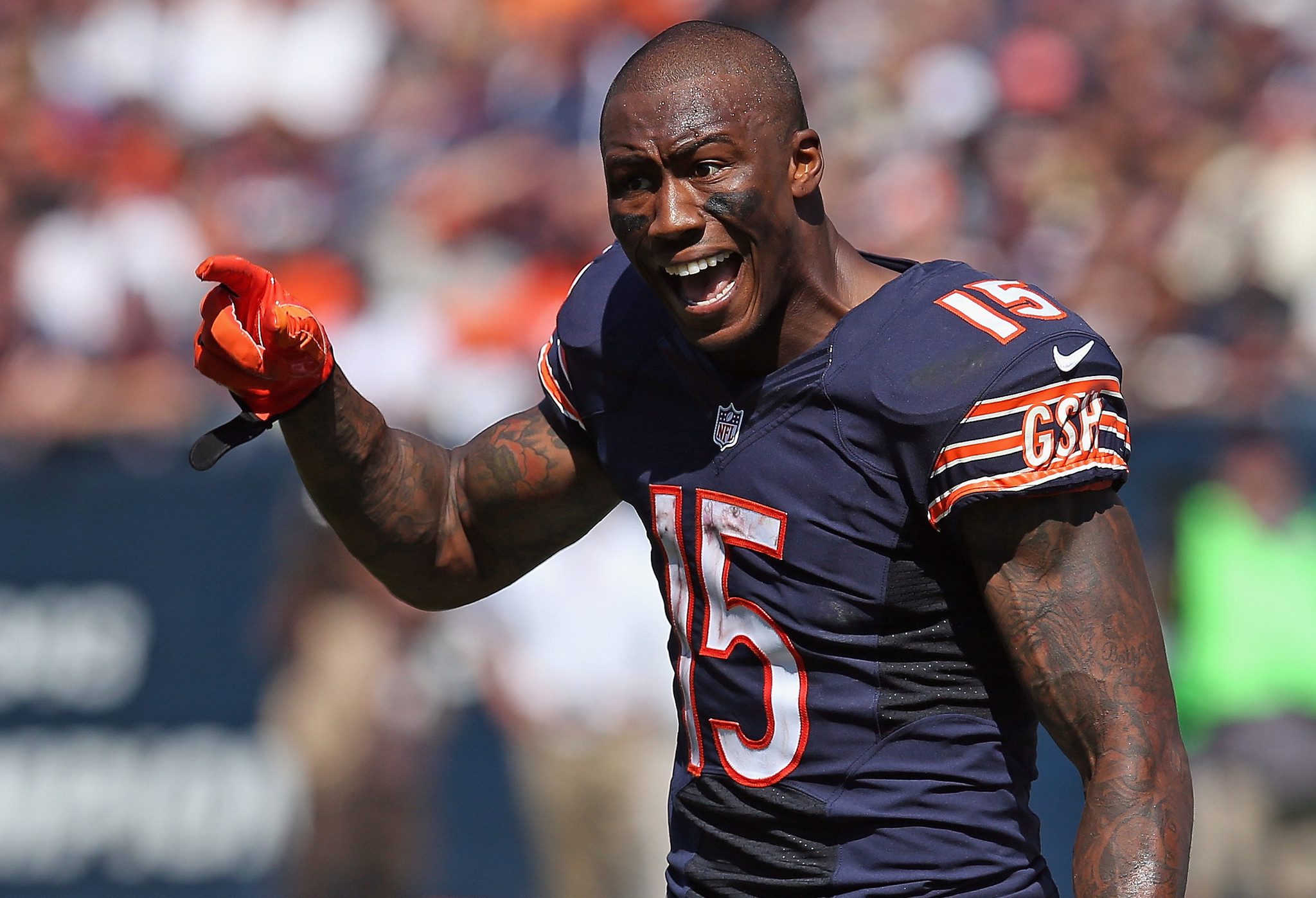 Image result for bears wr brandon marshall angry