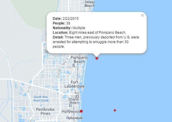 Map Hallandale Florida.Map Track Recent Migrant Landings And Rescues Along South Florida S