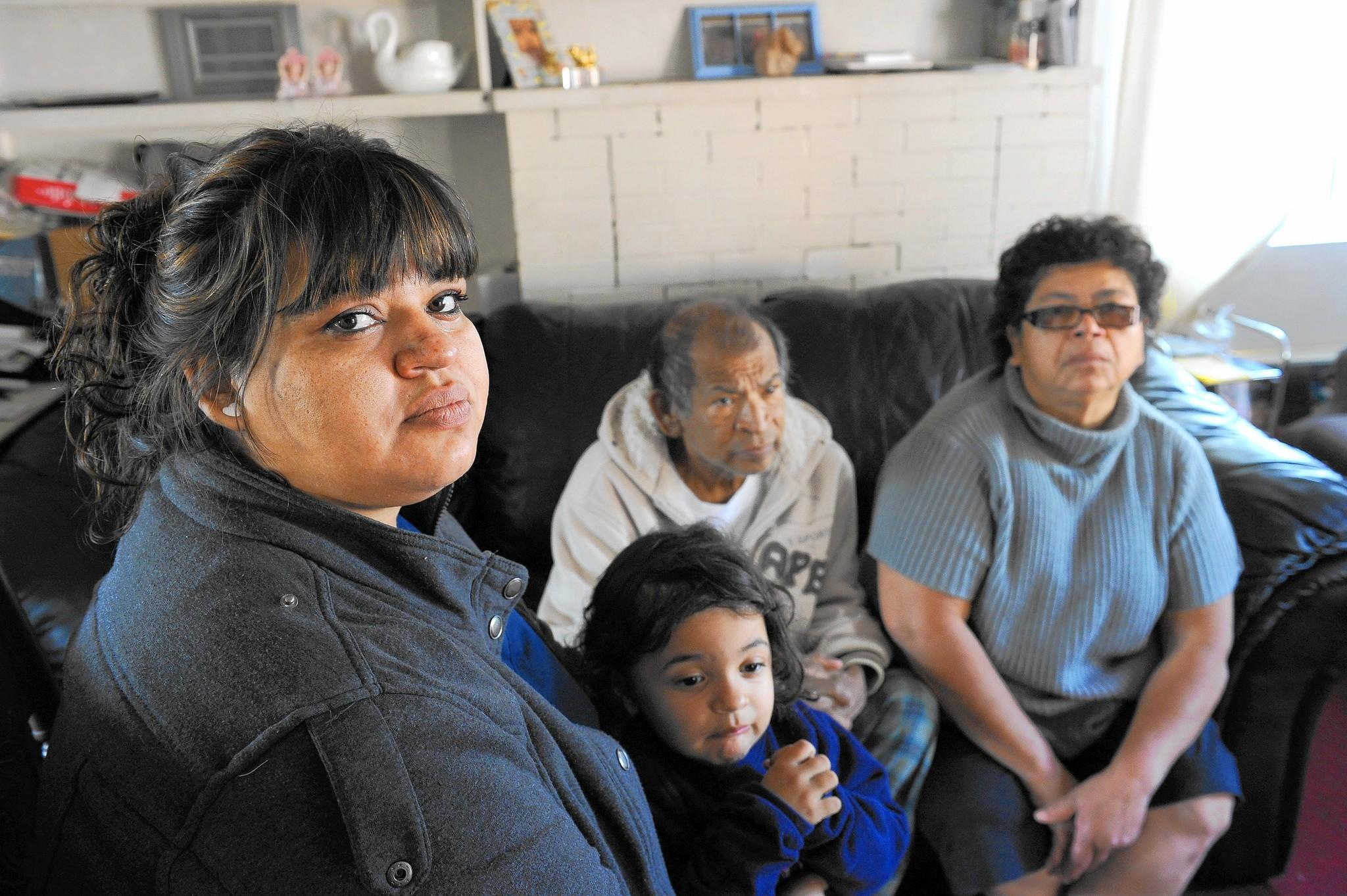 Rocio Sanchez, left, with her daughter Annmarie Ganci, 3, and parents Jose Sanchez and Ana Sanchez.