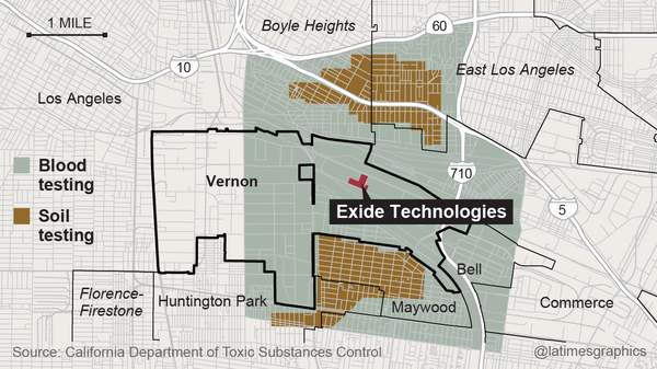 Exide's troubled history: years of pollution violations but few