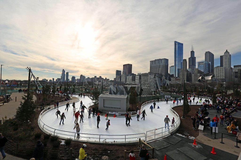 maggie daley park ice ribbon vs millennium park ice rink redeye
