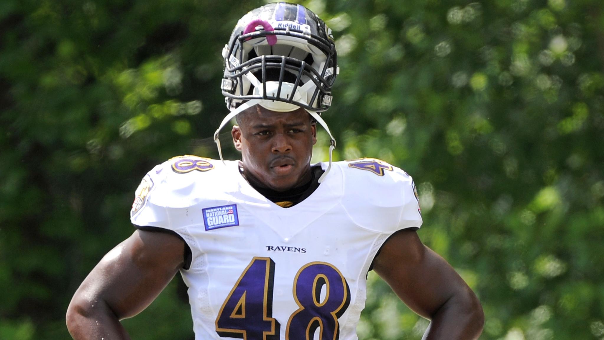 promo code fc474 2eca0 Ex-Ravens linebacker Brandon Copeland (Gilman) weighing ...