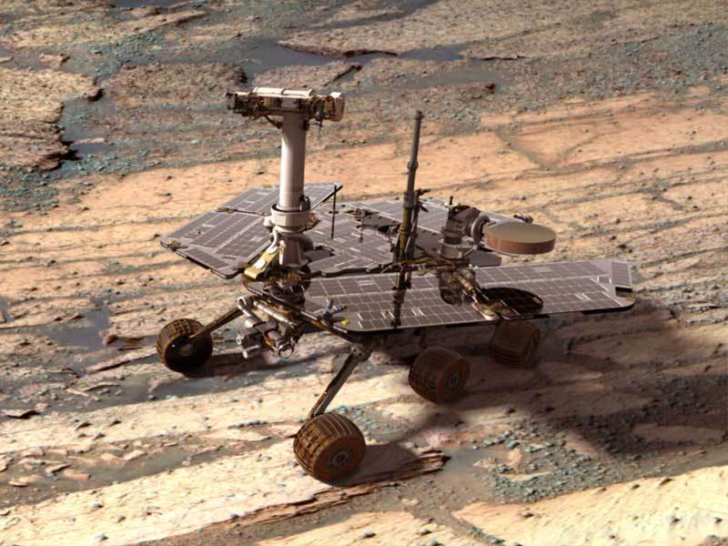 Mars rover Opportunity completes first 'marathon' on ...