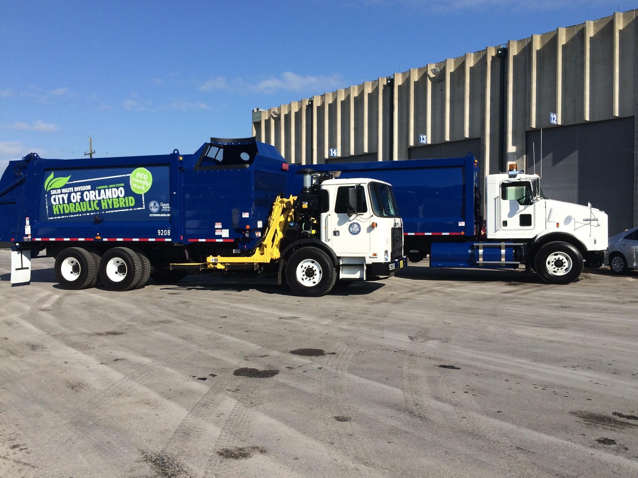 Orlando Unveils New Clean Garbage Trucks Orlando Sentinel