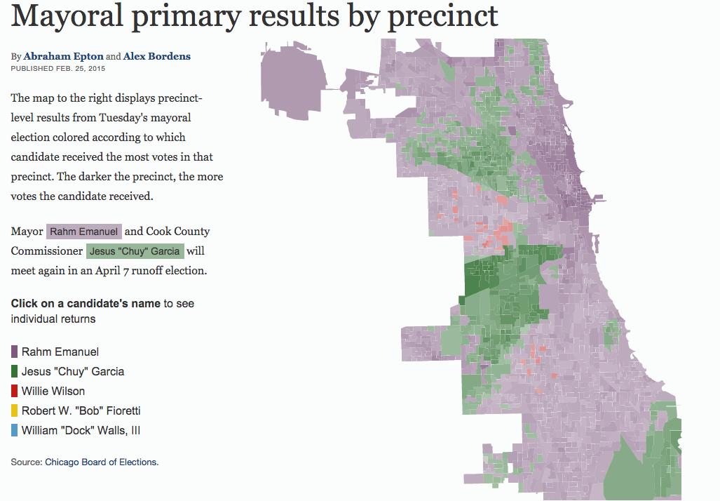 Maps, graphics: Election 2015 - Chicago Tribune