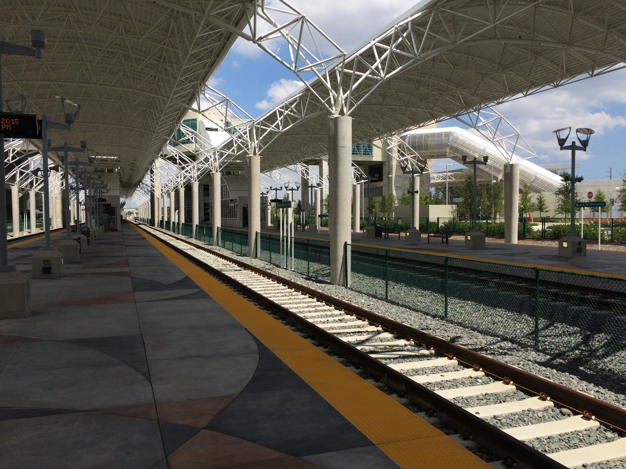 tri-rail's new miami airport station eases trip to airport