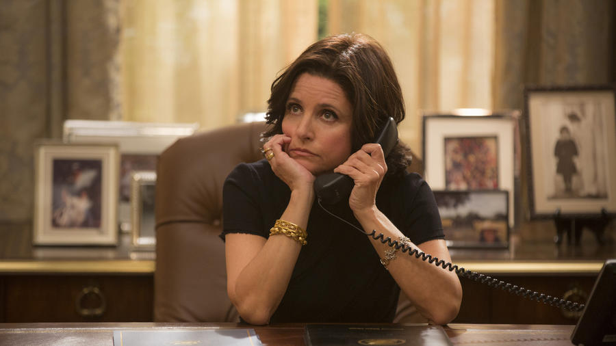Former vice president Selina Meyer (Julia Louis-Dreyfus) is the leader of the free world in the fourth season of HBO's
