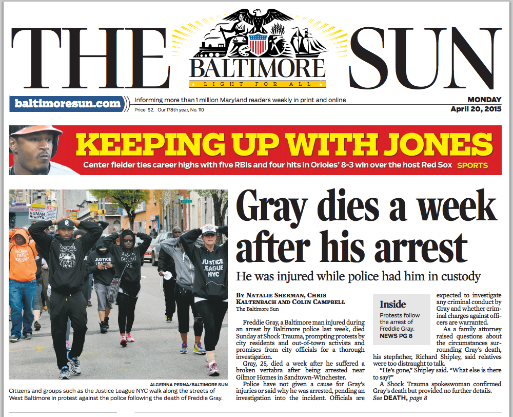Today's front page, weather & traffic - Baltimore Sun
