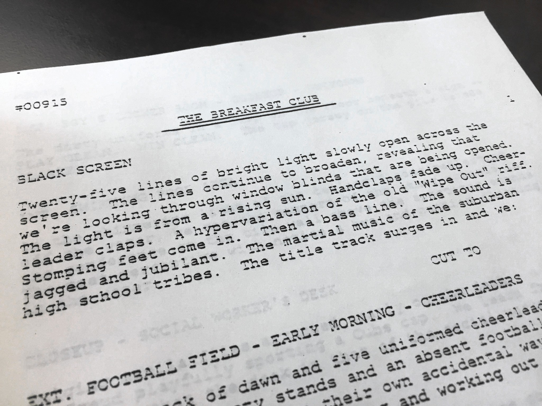 Original Breakfast Club screenplay found in District 207 cabinet