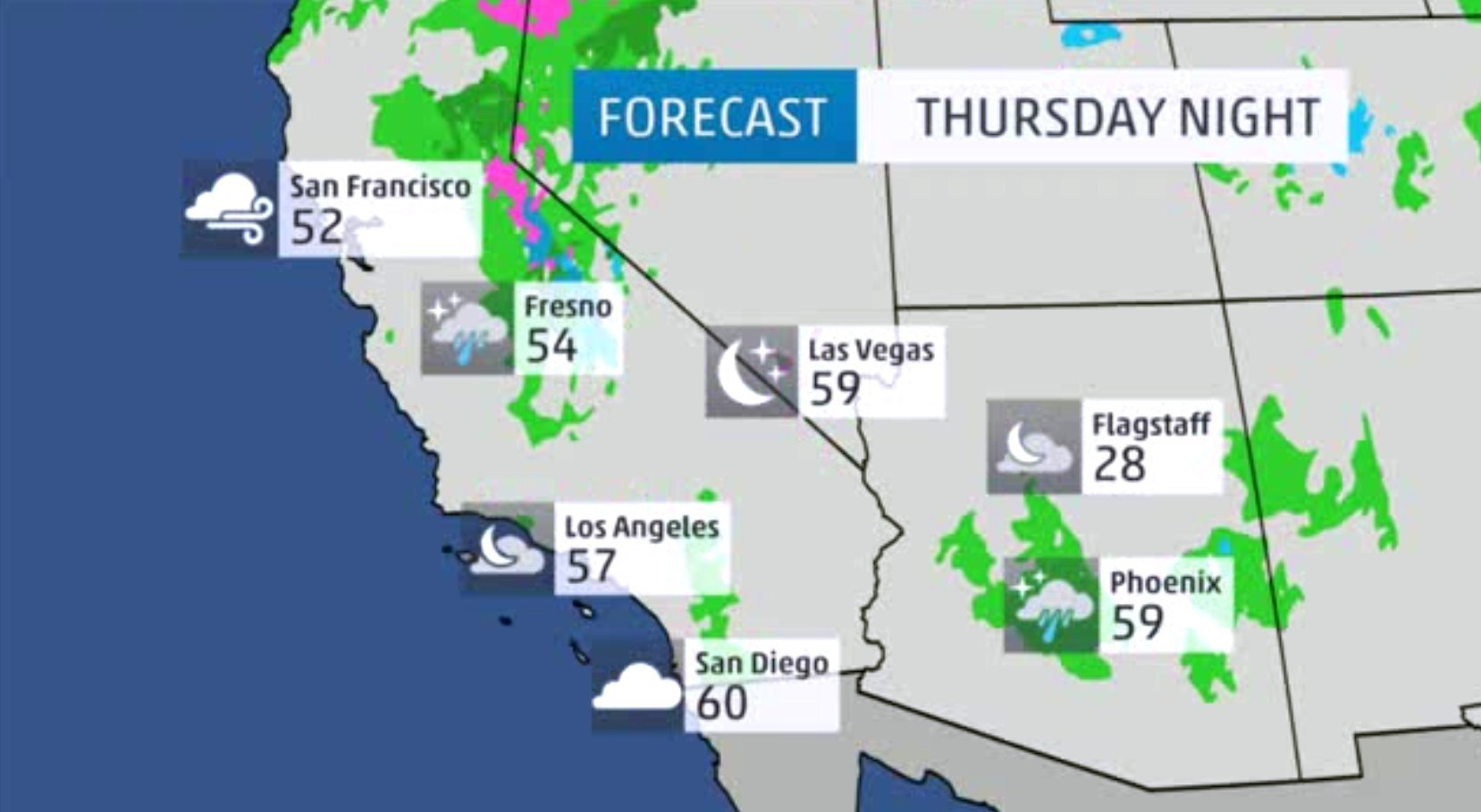 San Diego Weather Map Today.Weather Forecast La Times
