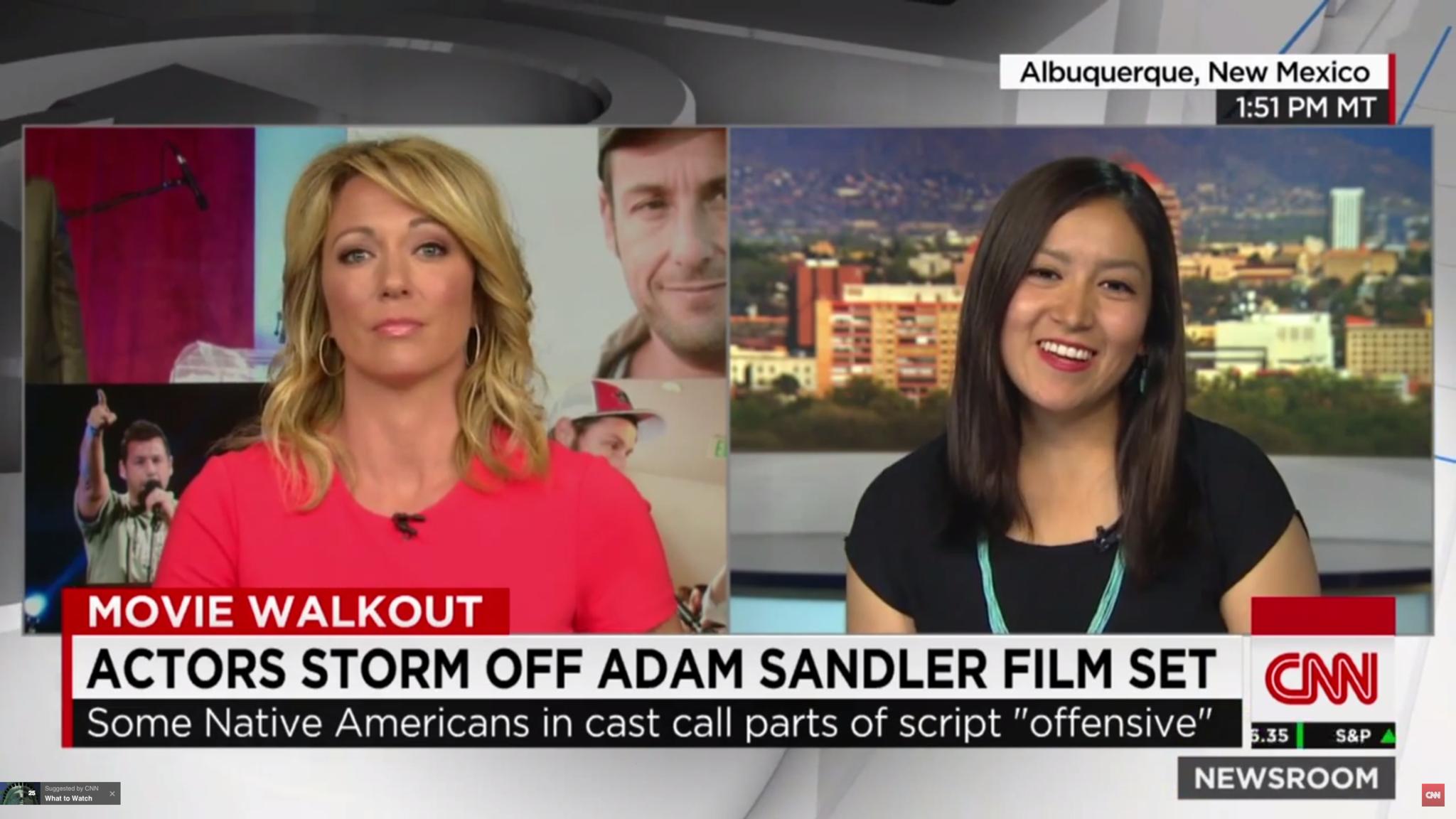 Native American Actors Walk Off Adam Sandler Movie Set Chicago Tribune
