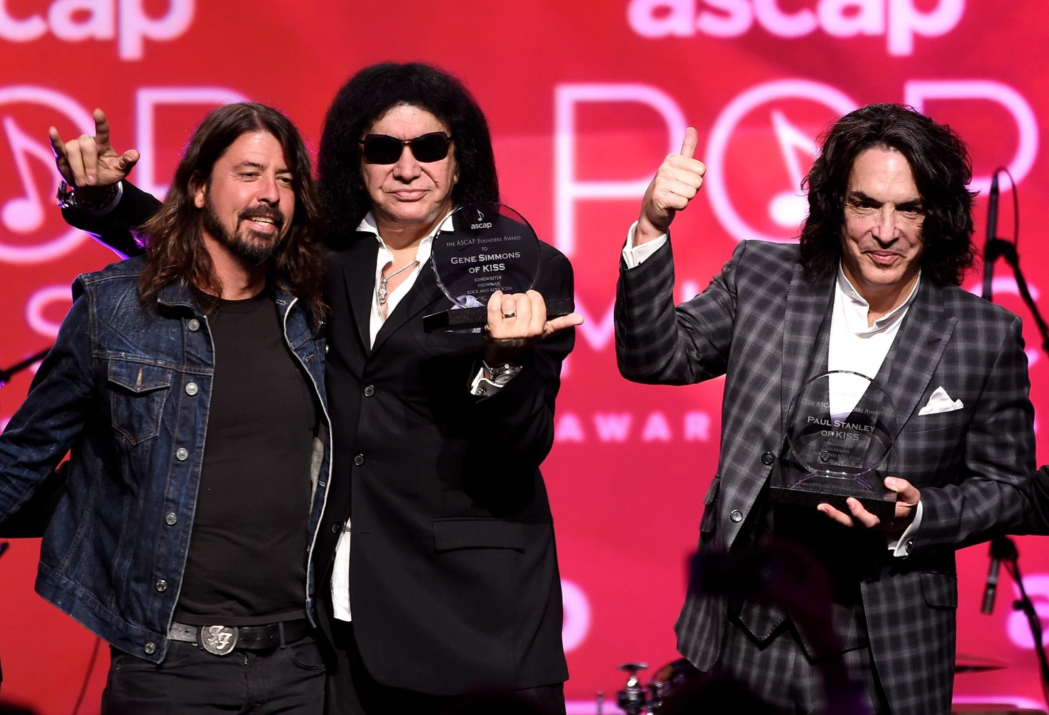 gene simmons and paul stanley of kiss among ascap honorees. Black Bedroom Furniture Sets. Home Design Ideas