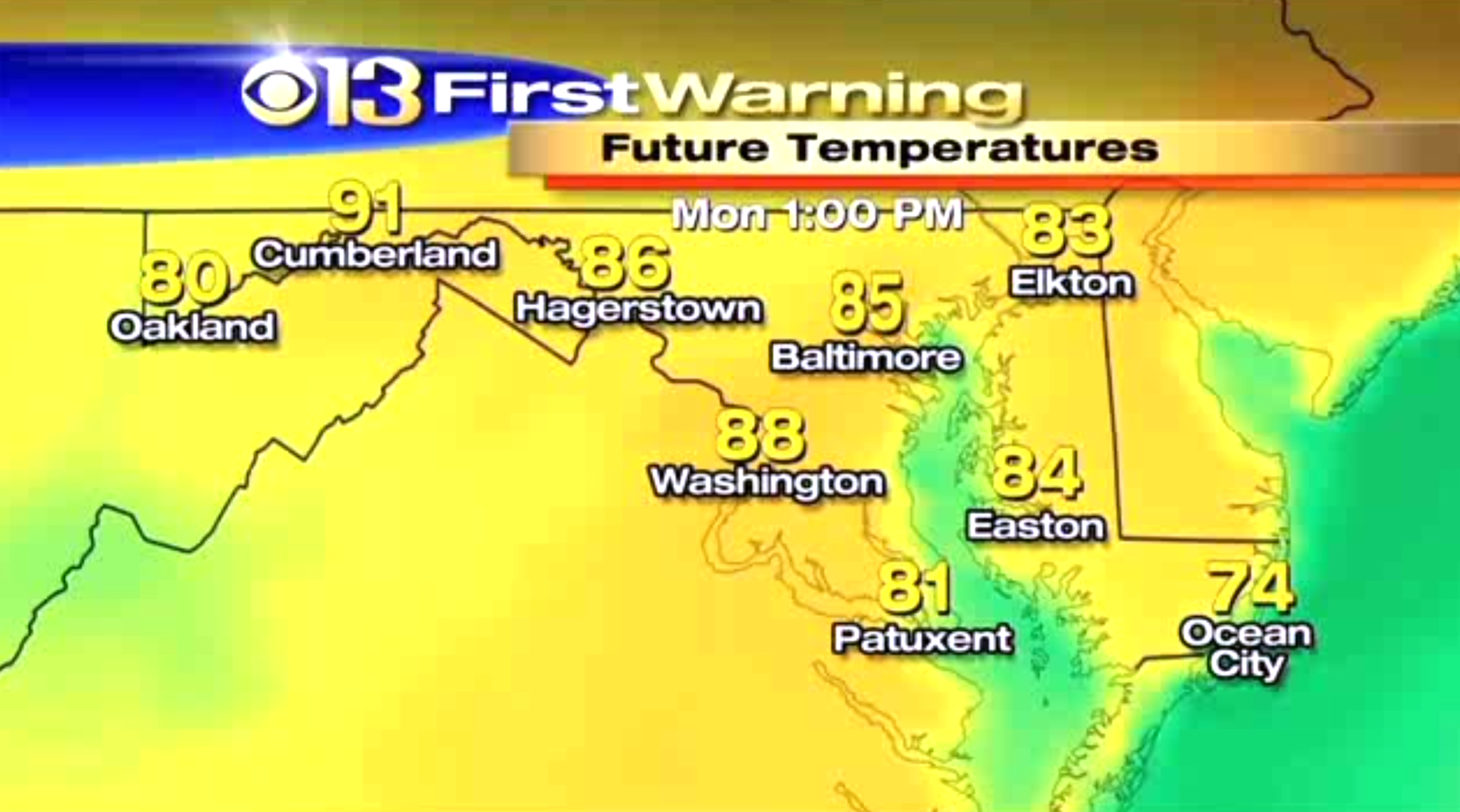 Sunday WJZ weather forecast - Baltimore Sun