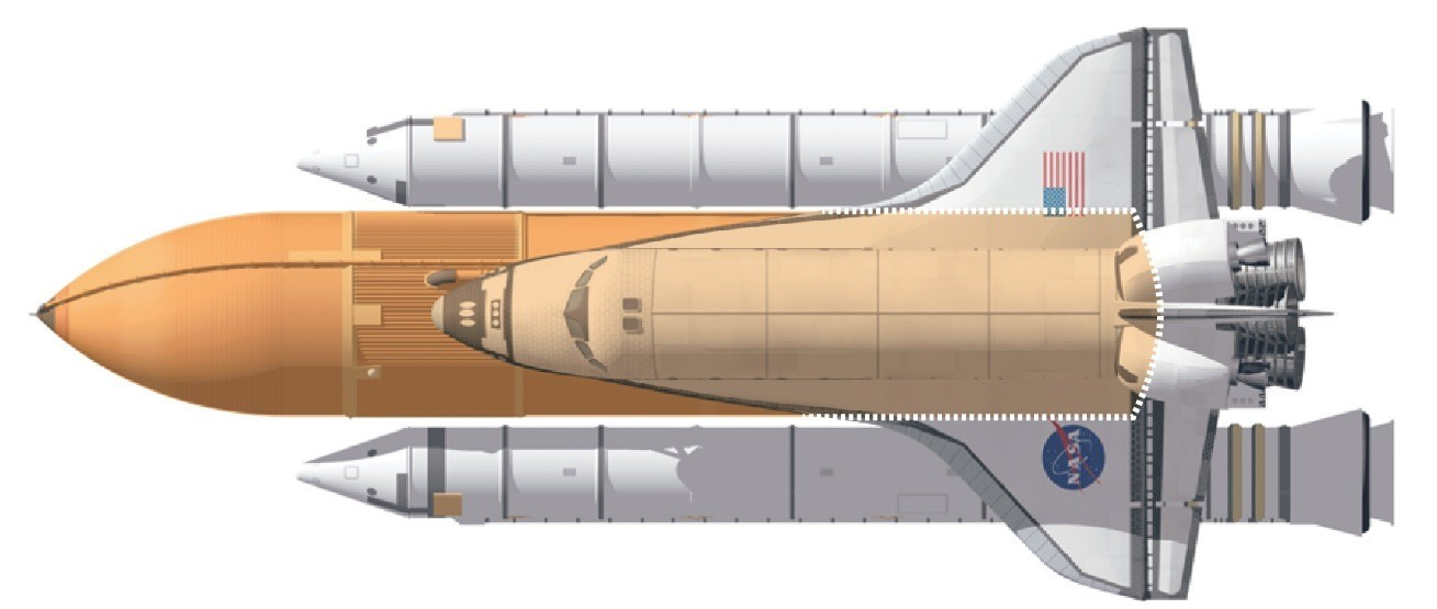 space shuttle white fuel tank - photo #33