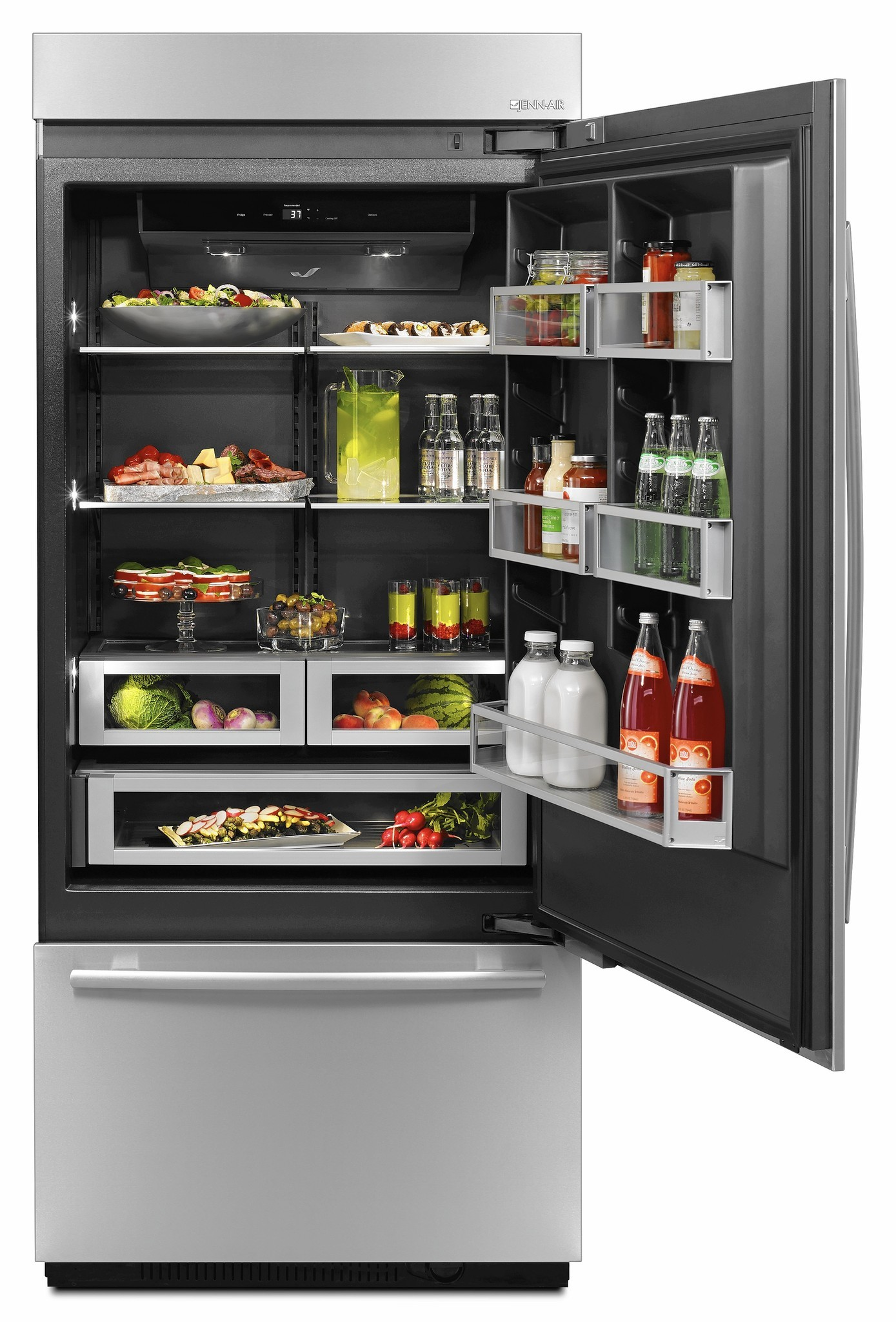 A New Refrigerator From Jenn Air Features An All Black Interior Chicago Tribune