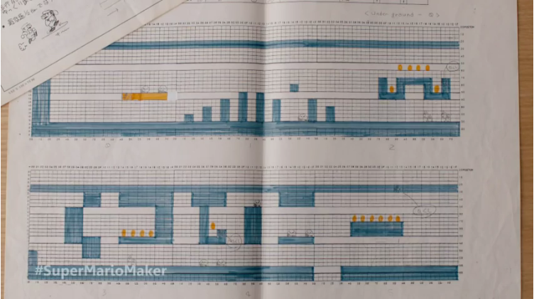 See The Graph Paper Sketches That Became 39 Super Mario Bros