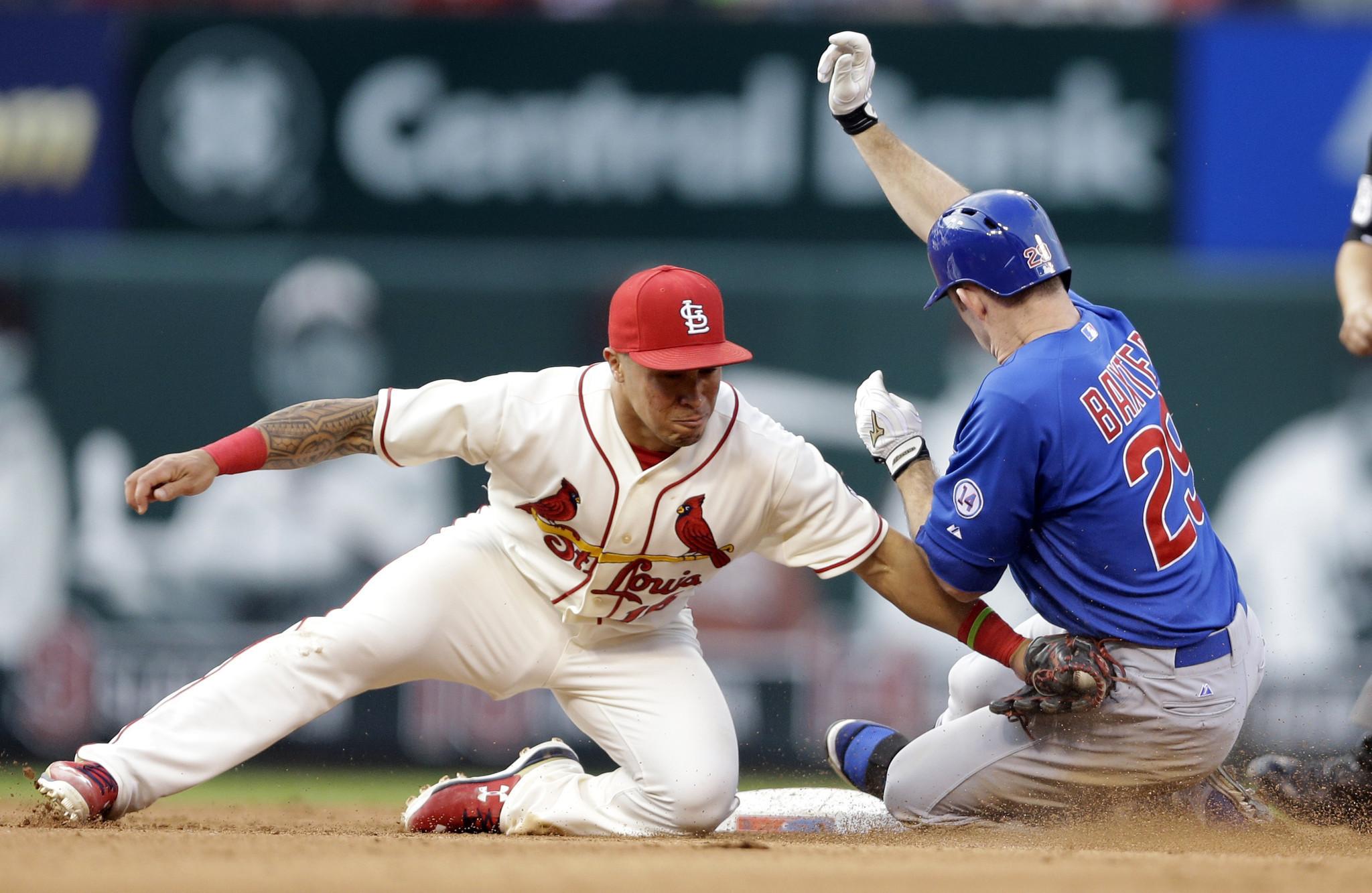 cardinals cubs beat scores lose mlb chicago jays rangers st baseball louis busch stadium action