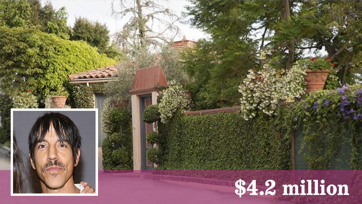 Mercedes Benz Of West Chester >> Red Hot Chili Peppers' Anthony Kiedis sells his villa in ...