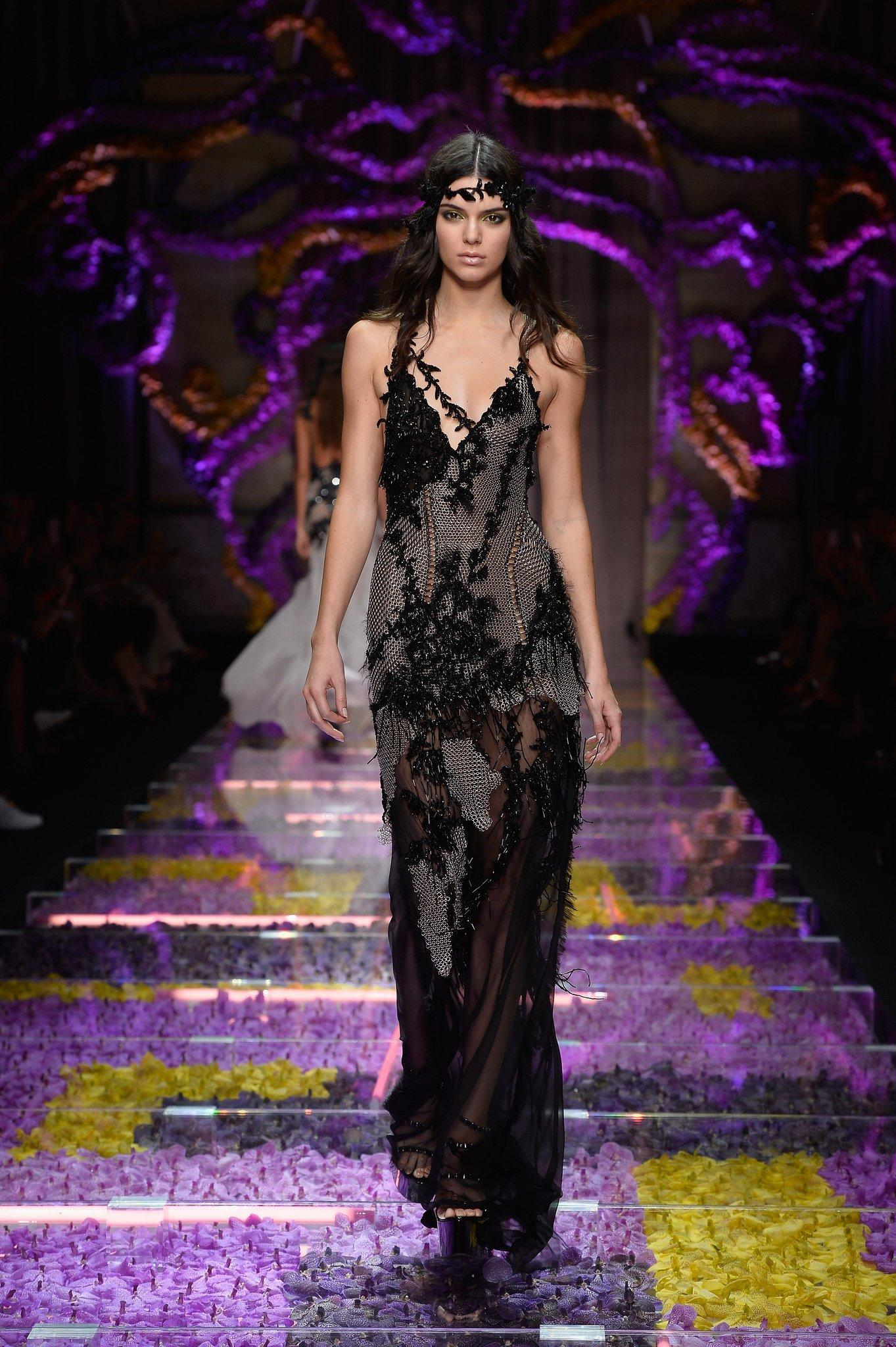 Kendall Jenner walks the runway during the Atelier Versace show.