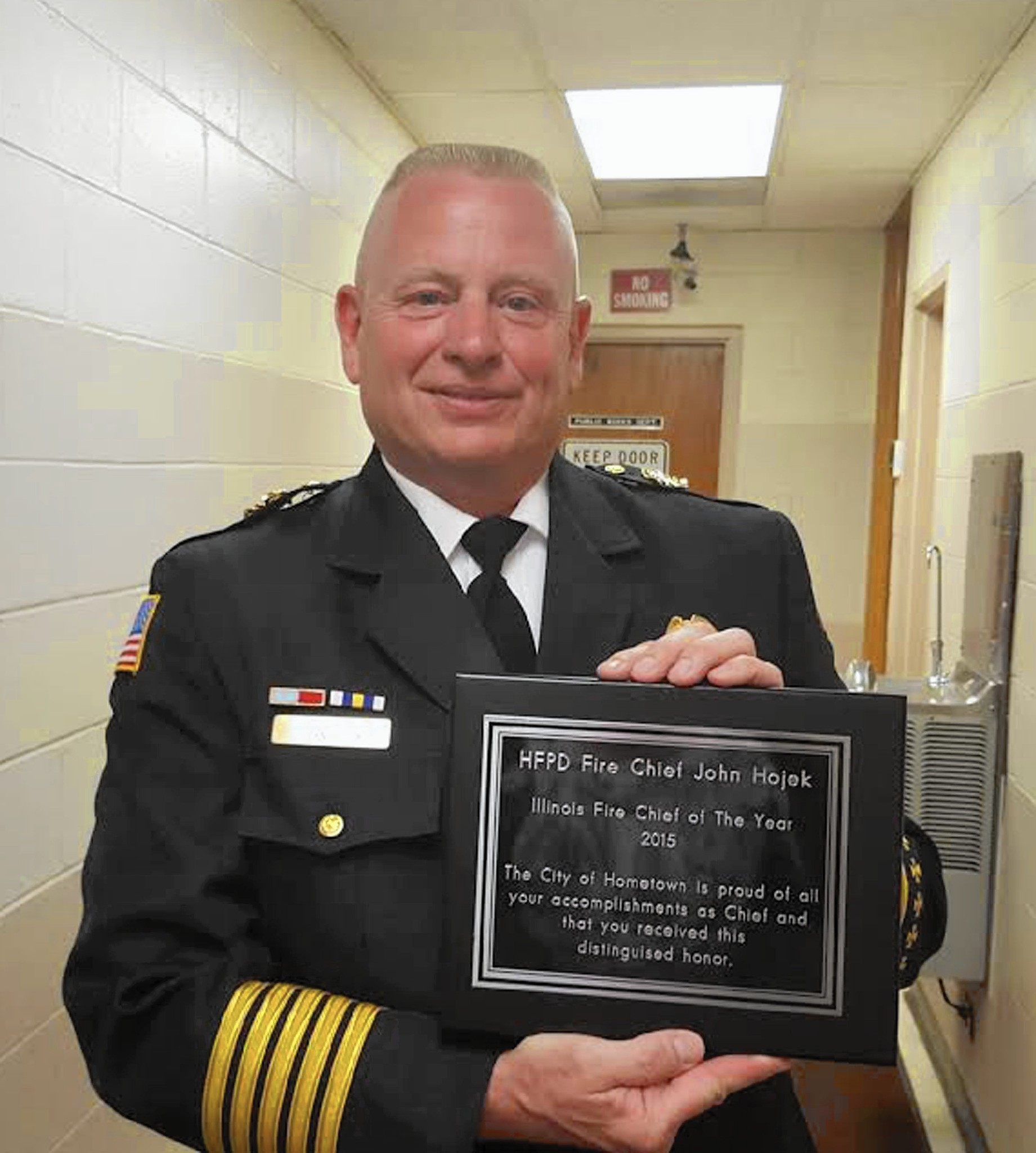 Hometown Fire Chief Honored