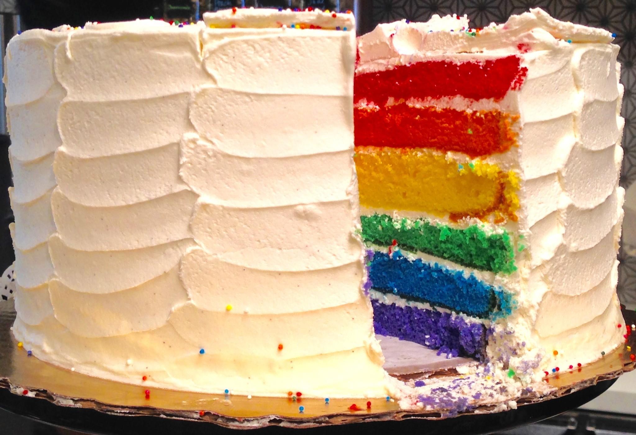 Rainbow Cake Chicago Bakery