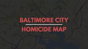 Baltimore homicides map