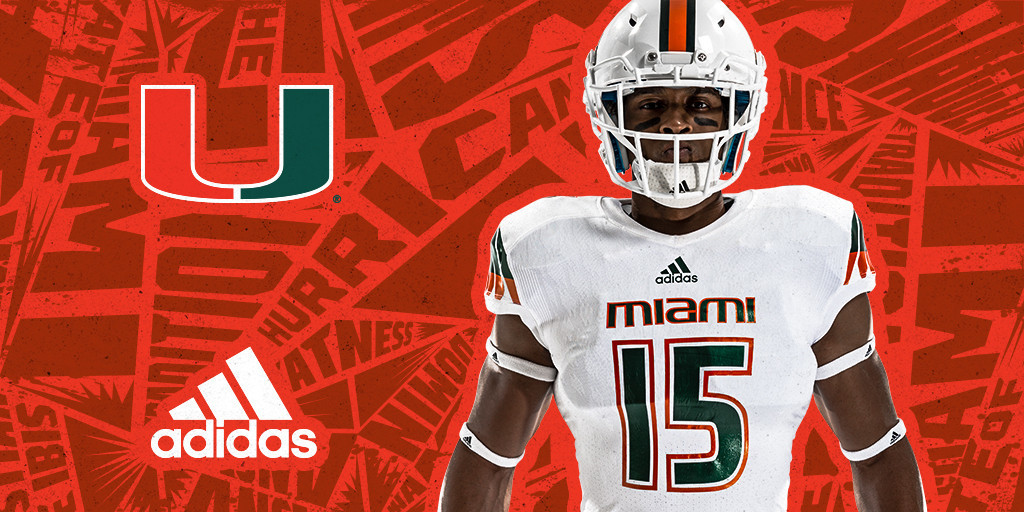 05be07d60 Miami Hurricanes unveil new Adidas uniforms - Sun Sentinel