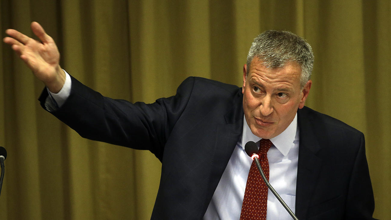 New York Mayor Bill de Blasio (Gregorio Borgia / Associated Press)