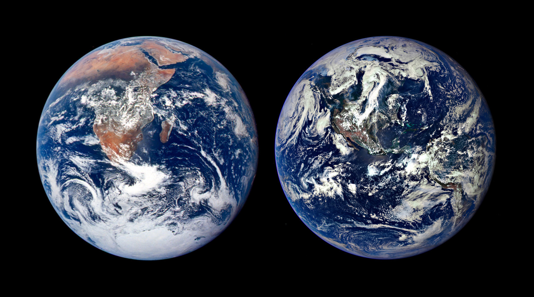 Nasa Photos Of Earth Comparing The Planet 1972 To 2015