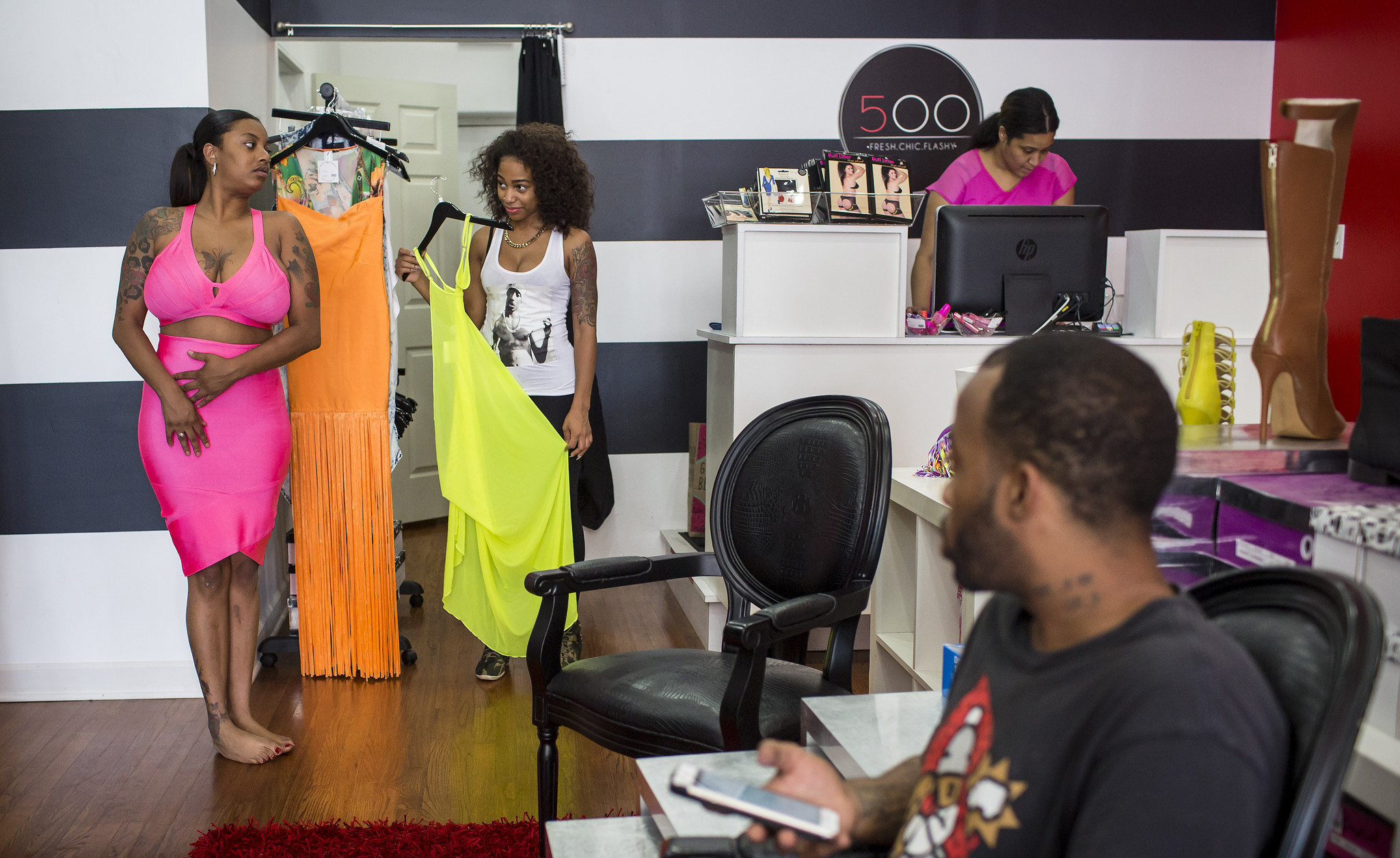 558d8ee84f Marlene Sheppard browsed the racks Wednesday at Shop 500 Boutique before  her birthday party