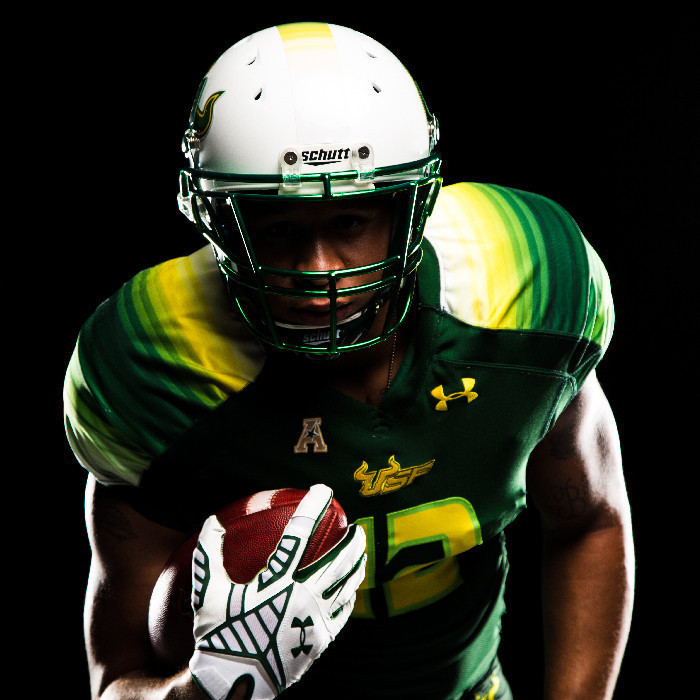 USF unveils new Under Armour football uniforms, helmets ...