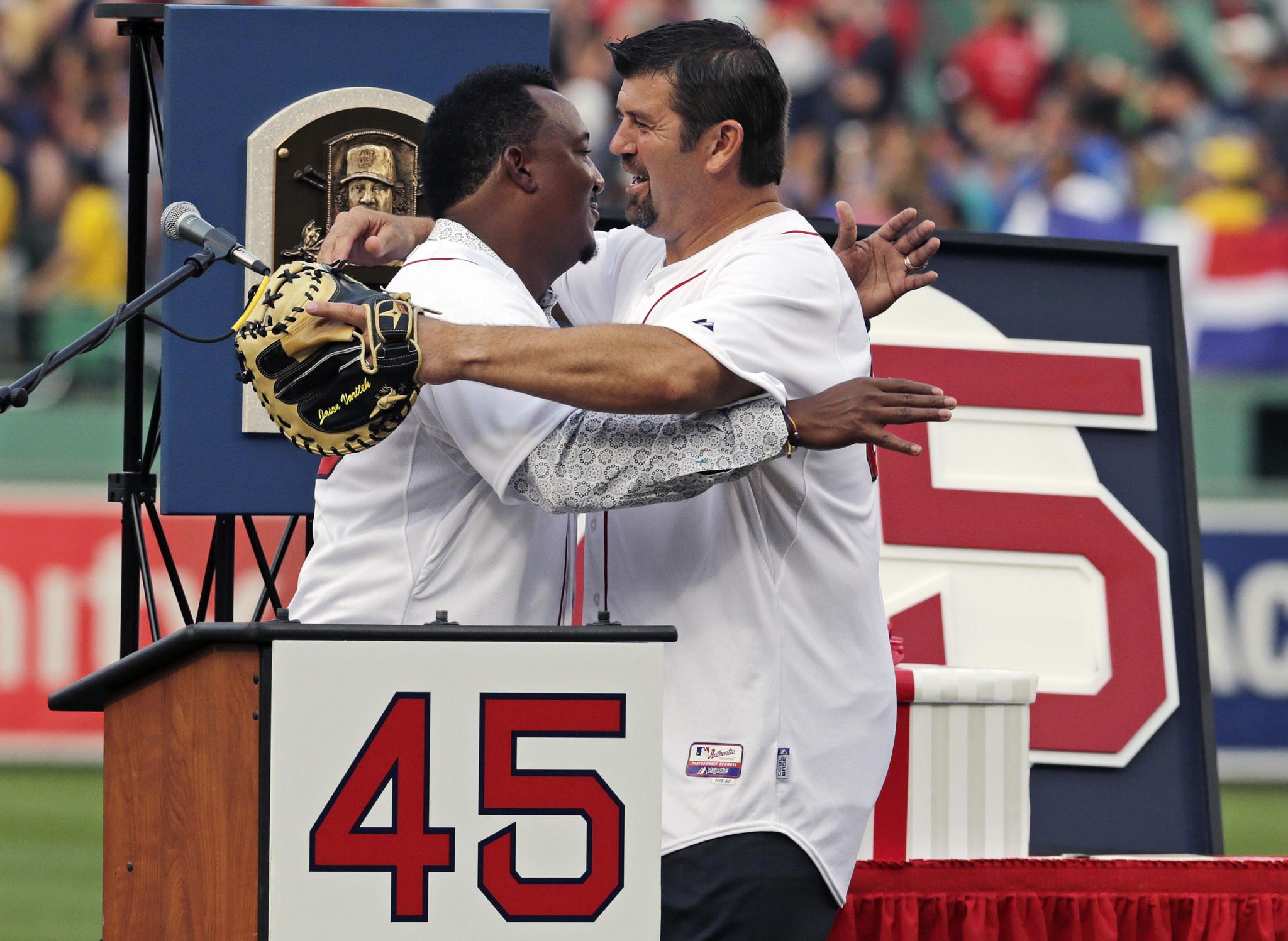 the best attitude 963eb 801e8 Red Sox Retire Pedro Martinez's No. 45 - Hartford Courant