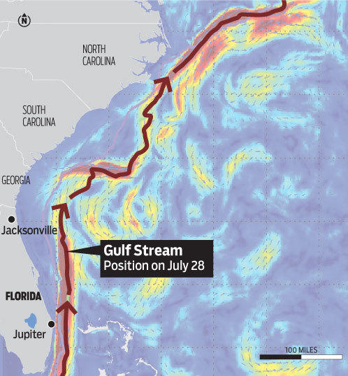 Map Of The Gulf Stream Map: The Gulf Stream   South Florida Sun Sentinel