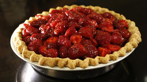 Vintage strawberry pie