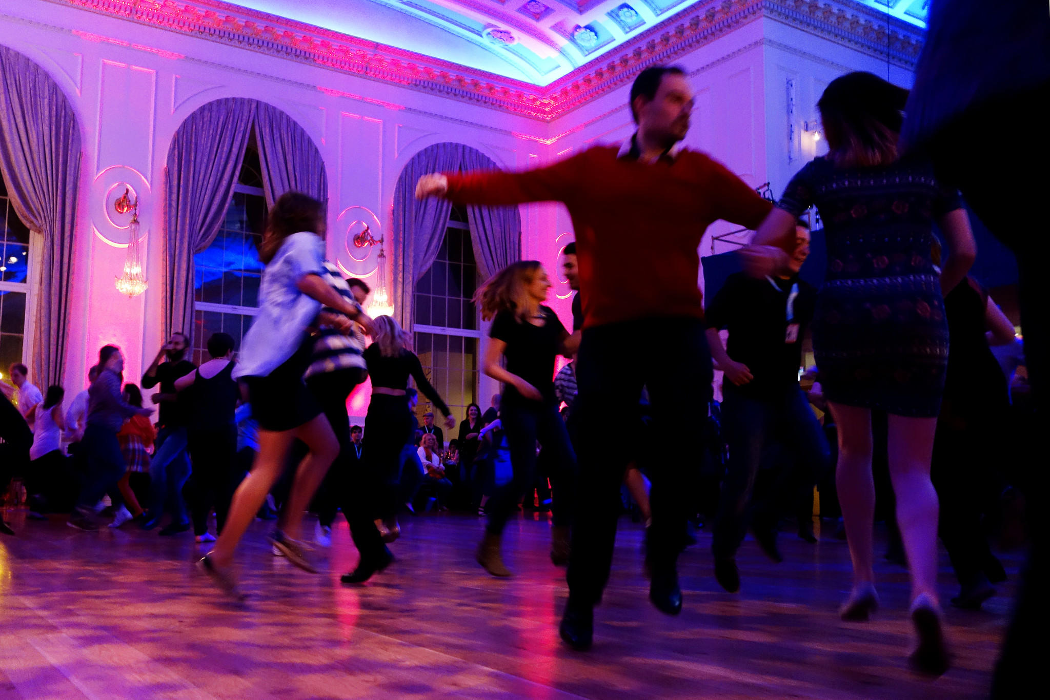 A ceilidh dance