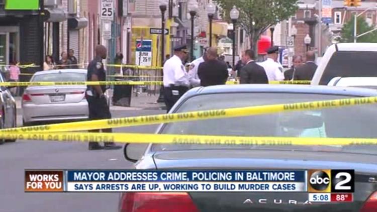 Mayor of Baltimore talks crime, policing during homicide spike