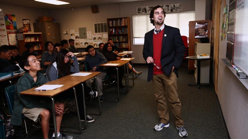 A California teacher at work