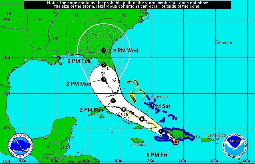 Tropical Storm Erika's projected path shifts to Florida's ...