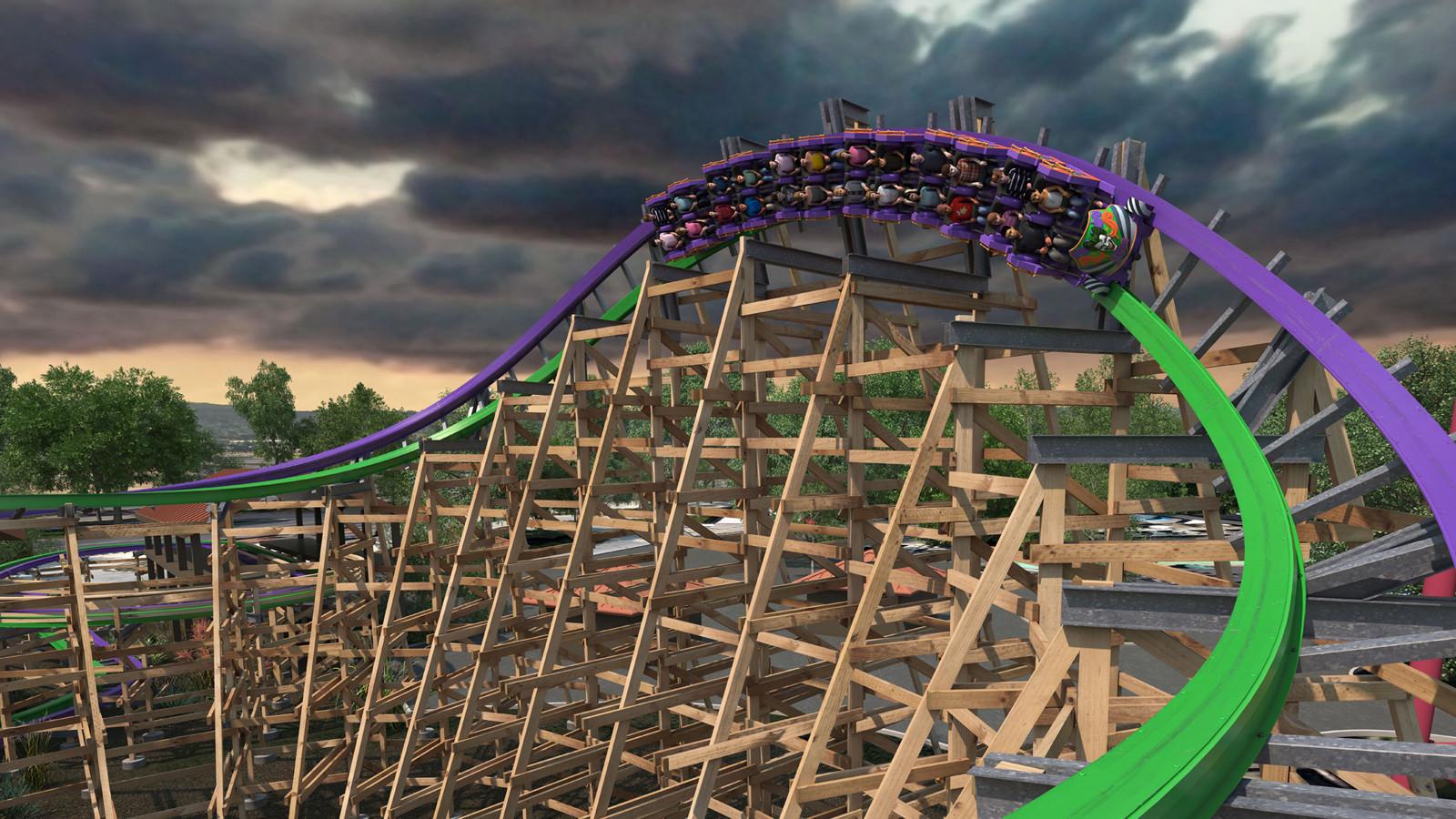 Aggiornamento costruzione Joker al Six Flags Discovery Kingdom