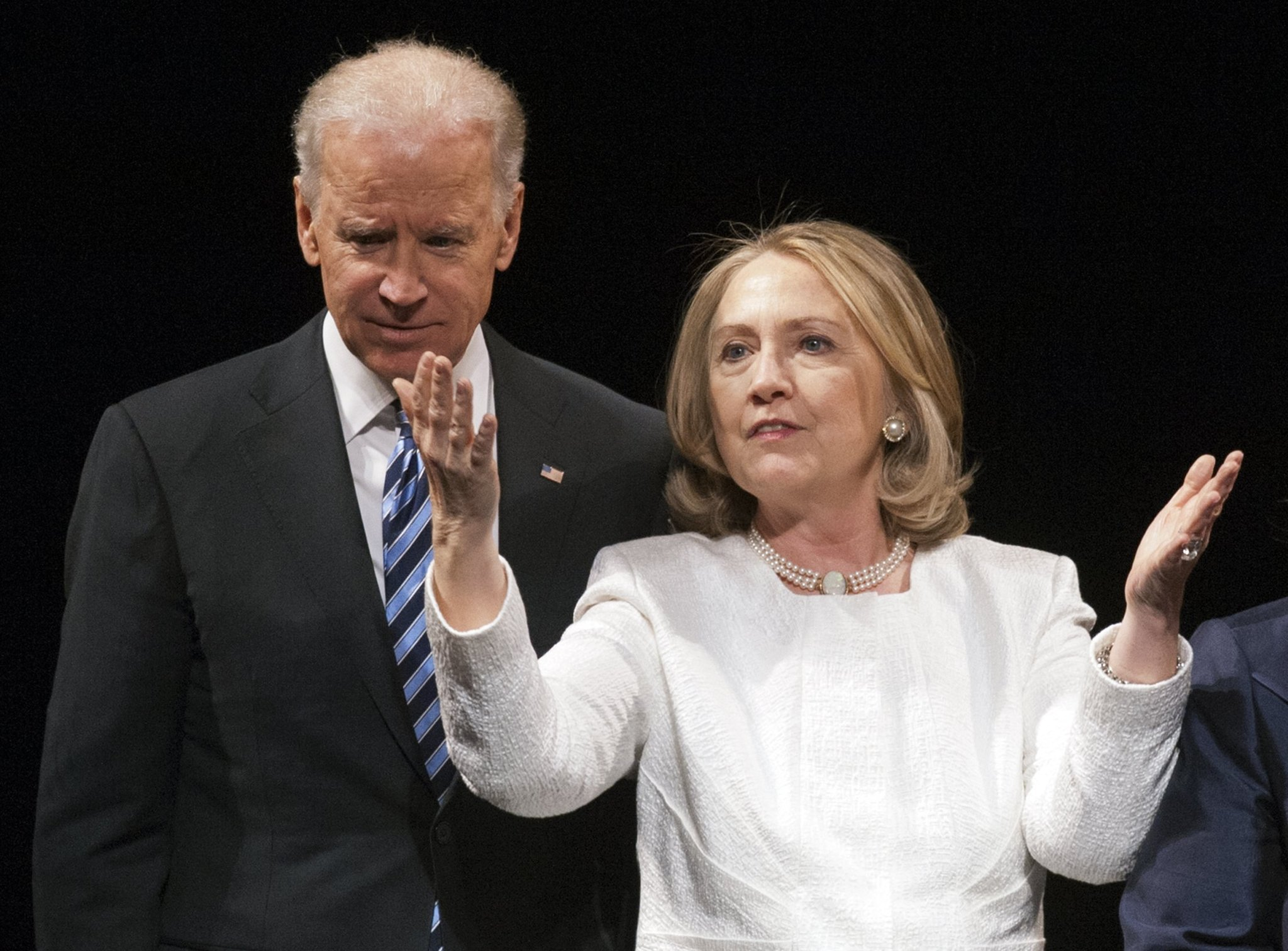Image result for picture of joe biden and hillary clinton together