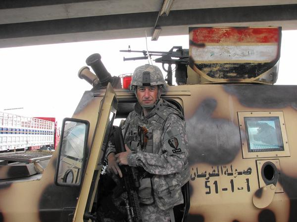 Jennifer Long -- Edward Long at the time -- on deployment in Iraq in 2008. Long, who suppressed her feminine identity for 22 years in the Army, is now living openly as a woman in New Jersey. (Jennifer Long)