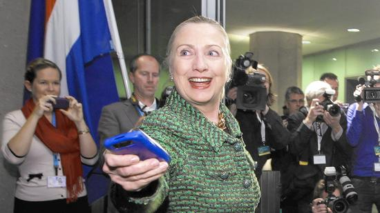 Then-Secretary of State Hillary Rodham Clinton in The Hague in 2011. (J. Scott Applewhite / Associated Press)
