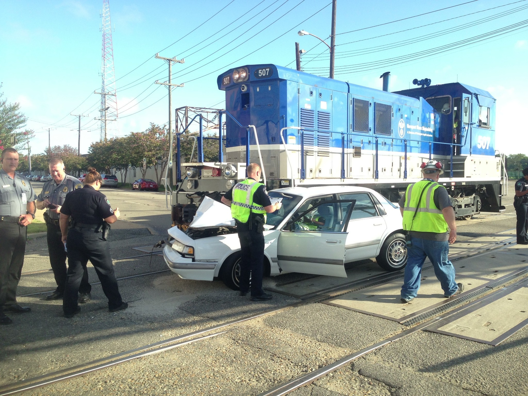 car hits train in newport news - chicago tribune